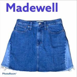 Madewell  Distressed Mini A-Line Skirt Skirt 27